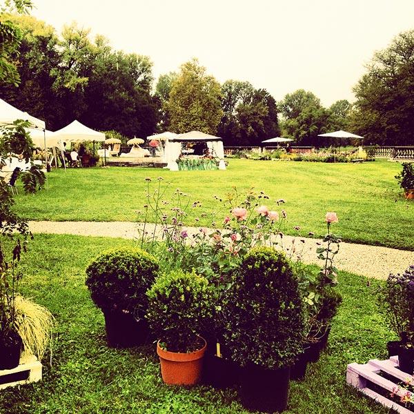 Fiori e colori nel giardino di Villa Contarini 2012